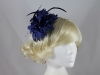 Flower Fascinator in Navy