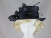Hawkins Collection Quills Occasion Hat in Navy