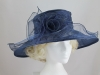 Hawkins Collection Large Brim Organza Hat