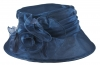 Hawkins Collection Organza Occasion Hat in Navy