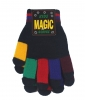 Magic Multi Coloured Gloves in Navy