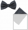 Max and Ellie Mens Bow Tie and Pocket Square Set in Navy