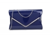 Papaya Fashion Patent Large Clutch Bag in Navy