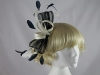 Navy and Ivory Headpiece