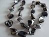 Necklace long Black Multibeaded