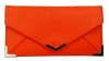 Papaya Fashion Faux Leather Envelope Bag in Neon Orange