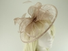 Failsworth Millinery Sinamay Disc Headpiece in Nude-Silver