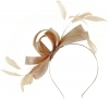 Failsworth Millinery Wide Loops Fascinator in Nude-Silver
