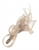 Elegance Collection Small Sinamay Clip Fascinator in Nude