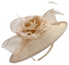 Failsworth Millinery Silk Rose Disc Headpiece in Nude