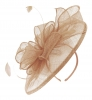 Failsworth Millinery Sinamay Headpiece in Nude