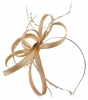 Failsworth Millinery Sinamay Loops Fascinator in Nude