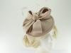 Failsworth Millinery Wool Felt Disc Headpiece in Nude
