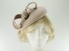 Failsworth Millinery Wool Felt Pillbox Headpiece in Nude