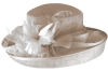 Hawkins Collection Upbrim Wedding Hat in Nude