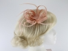 Loops in Hessian Fascinator in Nude