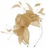 Max and Ellie Diamante Fascinator in Nude