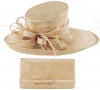 Max and Ellie Events Hat with Matching Large Occasion Bag in Nude