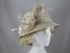 Failsworth Millinery Diamante Wedding Hat in Oatmeal