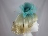 Hawkins Collection Flower and Net Headpiece in Ocean