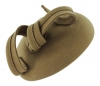 Failsworth Millinery Wool Felt Pillbox Headpiece in Olive