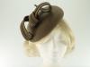 Failsworth Millinery Wool Felt Pillbox Headpiece in Olive