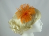 Biots and Beads Fascinator in Orange
