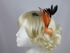Bright Leaves Fascinator in Orange