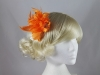 Flower with Biots Fascinator in Orange