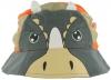 Jiglz Triceratops Cotton Sun Hat in Orange