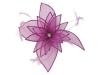Failsworth Millinery Diamante Organza Fascinator in Orchid
