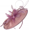 Failsworth Millinery Shaped Sinamay Disc in Orchid