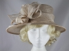 Elegance Collection Sinamay Leaves Occasion Hat in Oyster