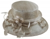 Elegance Collection Sinamay Loops Wedding Hat in Oyster