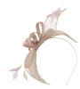 Failsworth Millinery Sinamay Fascinator in Oyster