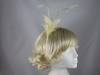 Pale Yellow Feather Fascinator
