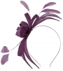 Failsworth Millinery Aliceband Sinamay Fascinator in Pansy