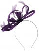 Failsworth Millinery Satin Loops Aliceband Fascinator in Pansy