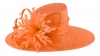 Failsworth Millinery Ascot Hat in Papaya