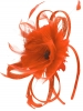 Failsworth Millinery Flower Fascinator in Papaya