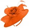 Failsworth Millinery Silk Rose Disc Headpiece in Papaya