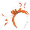 Failsworth Millinery Sinamay Fascinator in Papaya