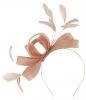 Failsworth Millinery Wide Loops Fascinator in Parfait