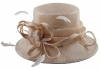 Elegance Collection Sinamay Loops Wedding Hat in Peach