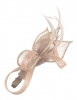 Elegance Collection Small Sinamay Clip Fascinator in Peach