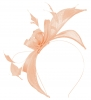 Failsworth Millinery Sinamay Fascinator in Peach