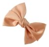 Molly and Rose Faux Satin Hair Bow in Peach