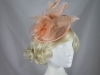 Aurora Collection Rose and Feather Disc in Peach