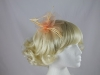 Swirl & Biots Fascinator on aliceband in Peach