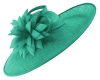 Failsworth Millinery Ascot Saucer Headpiece in Peacock